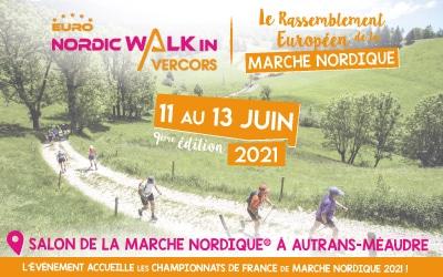 RDV du 11 au 13 juin 2021 à Autrans pour la 9ème édition de l'Euro NordicWalkin'Vercors !