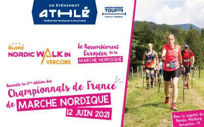 L'Euro NordicWalkin'Vercors 2021 accueillera les Championnats de France de Marche Nordique !